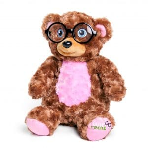 Lenz Frenz Pink Teddy Bear with glasses storage case